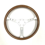 C3 Corvette 1968-1982 Wooden Steering Wheel - 3 Spoke Brushed