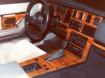 C4 Corvette 1984-1989 No-Mar Faux Wood Center Dash & Console Overlay Kits w/ Speedo-Tach - Rosewood