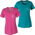 C7 Corvette 2014+ Ladies Stingray Tee - Pink & Teal Options