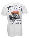 C6 Corvette 2005-2013 Watercolor Route 66 Themed T-Shirt