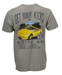C5 Corvette 1997-2004 Watercolor Route 66 Themed T-Shirt