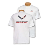 C7 Corvette 2014+ Corvette Racing 3D Emblem T-Shirt - Black & White Options