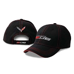 C7 Corvette 2015-2019 Z06 Driver Cap w/ Red Stitching