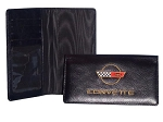 C4 Corvette 1984-1996 Genuine Leather Embroidered Checkbook