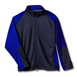 C6 Corvette 2005-2013 Zero Restriction Color Block Jacket w/ Corvette Script in Royal Blue