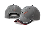 C7 Corvette 2014+ Color Block Cap w/ Piping Details & Crossed Flags Logo