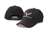 C7 Corvette Stingray 2014+ Patch Cap w/ Red Accent Stitching