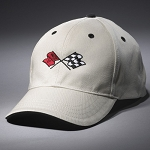 C3 Corvette 1968-1982 Heritage Crossed Flags Cap - Stone / Black