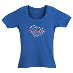 C6 Corvette 2005-2013 Ladies Heart T-Shirt