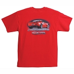 C6 Corvette 2006-2013 Z06 Rear View T-Shirt - Red