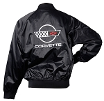C4 Corvette 1984-1996 Satin Jackets - Black