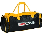 C6 Corvette 2005-2013 Yellow & Black Zippered Duffle Bag w/ Z06 & Crossed Flags Emblem