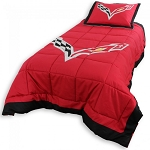C7 Corvette 2014+ Reversible Twin Comforter Set w/ Pillow Sham