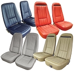 C3 Corvette 1968-1975 Seat Covers - 100% Leather & OE Reproduction