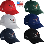 C7 Corvette Stingray 2014-2019 Embroidered Cross Flags Logo Cap