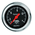 Autometer 2-1/6 inch Fuel Pressure 0-15 PSI - Chrome
