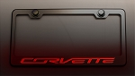 C7 Corvette Stingray/Z06/Grand Sport 2014+ License Plate Frame - Illuminated Corvette Script