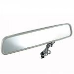 C2 C3 Corvette 1963-1982 Rearview Mirror w/ Map Light - Silver - 12 inches