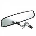 C3 Corvette 1972-1976 Rearview Mirror w/ Map Light - Black - Size & Year Options