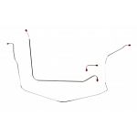C2 Corvette 1963-1966 Front Brake Line Kit - 3pc - Regular Steel