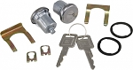 C3 Corvette 1969-1980 Anti-Theft Door Lock Kit with Clip, Keys and Gasket