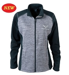 C7 Corvette 2014+ Ladies Full Zip Tonal Fleece Jacket
