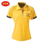 C7 Corvette 2014-2019 Ladies Corvette Racing Polo - Yellow w/ Graphite Accents