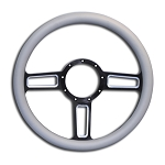 C2 C3 C4 Corvette 1963-1996 Launch Billet Steering Wheel w/ Machined Accented Spokes - Multiple Finishes Available
