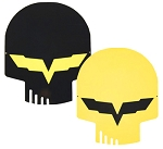 Corvette C6 Jake Head Skull Yellow or Black Metal Sign