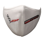 C7 Corvette 2014-2019 Face Covering - Dual Logo Selection - White or Black