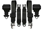 C3 Corvette 1968L-1969L Seat Belts - 3 Point Retractable Vertical Mount - Economy Pair