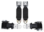 C3 Corvette 1972-1973 Economy Lap Seat Belts w/Retractors - Pair
