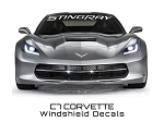 C7 Corvette Stingray 2014+ Windshield Lettering STINGRAY Script