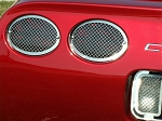 C5 Corvette 1997-2004 Laser Mesh Tail Light Grilles