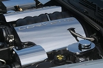 C6 Corvette 2005-2007 LS2 Fuel Rail Covers Polished with Corvette Script