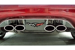 Corvette C5 97-04 Exhaust Filler Panel w/ Logo (Stock Exhaust)