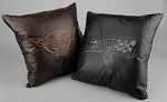 C3 C4 C5 C6 Corvette 1968-2013 Embossed Leather Pillow