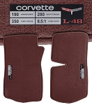 C3 Corvette 1977-1982 Deluxe Cut-Pile Floor Mats with Data Spec Plates