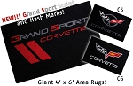 Corvette Area Rugs Your Choice of C5, C6 or Grand Sport Logos
