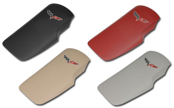 C6 Corvette 2005-2013 Leather Embroidered Console Lids