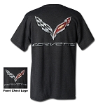 C7 Corvette 2014+ Logo Flag T-shirt