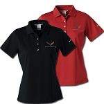 C7 Corvette 2014-2019 Womens Nike Dri Fit Polo