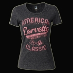 C3 Corvette 1968-1982 Ladies American Classic T-Shirt
