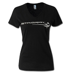 C7 Corvette 2014+ Stingray Ladies Metallic V-Neck Tee