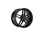 Corvette C6 05-13 Z06 Style Gloss Black Wheel Set 18x9.5/19x12