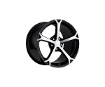C6 Corvette 2006-2013 Grand Sport Black w/ Machined Spokes Wheel Set 18x9.5/19x12