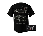 C2 Corvette 1963-1967 Stingray T-Shirt - Black