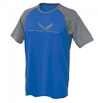 C7 Corvette 2014-2019 Grand Sport Reverse Mesh Tee - Royal