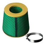 Green Foam Race Performance Dry High Flow Cone Air Filter Replacement - Oil Free