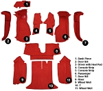 C4 Corvette 1994-1996 Coupe Carpet Set - Complete With Pad Options